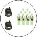 Радиосистема модели Elegant c возможностью самой дальней связи и трансляции группе голосов двух экскурсоводов через два приемопередатчика