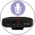 Встроенный микрофон передатчиков модели K5 позволяет обходиться без подключенного микрофона