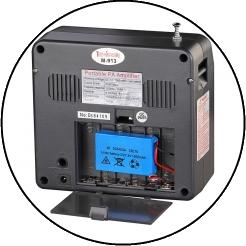 M-913 - переносной усилитель голоса, мегафон c большой мощностью звука, микшером, MP3, FM, гибридным питанием